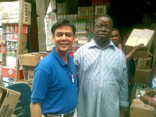 With Chief Patrick Eze in ABA market